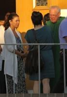 Ева Лонгория посетила церковь в Северном Голливуде.