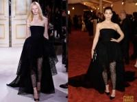 На MET Gala Джессика присутствовала в платье от Giambattista Vali:
