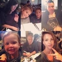 Джессика Альба отвела семью в ресторан