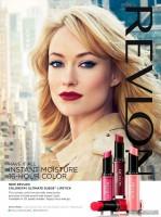 Оливия в новой рекламной компании косметического бренда «Revlon»