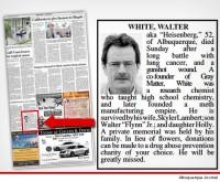«Remember my name». Уолтера Уайта похоронили по-настоящему