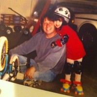 Миранда поделилась фотографией из детства со своим отцом