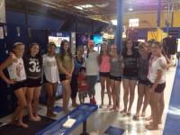 С поклонниками в спортивном центре «Sky High»