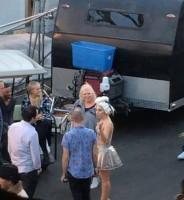 Фото со съемок нового клипа Леди Гаги, скорее всего, на песню «G.U.Y.».