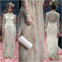 Зоуи Дешанель. Настала весна: Цветочные свадебные платья вдохновленные Зоуи Дешанель.