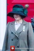 Хелена Бонэм Картер. Первые фото Хелены со съемок фильма 'Suffragette', 25 марта 2014