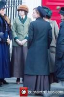 Первые фото Хелены со съемок фильма 'Suffragette', 25 марта 2014