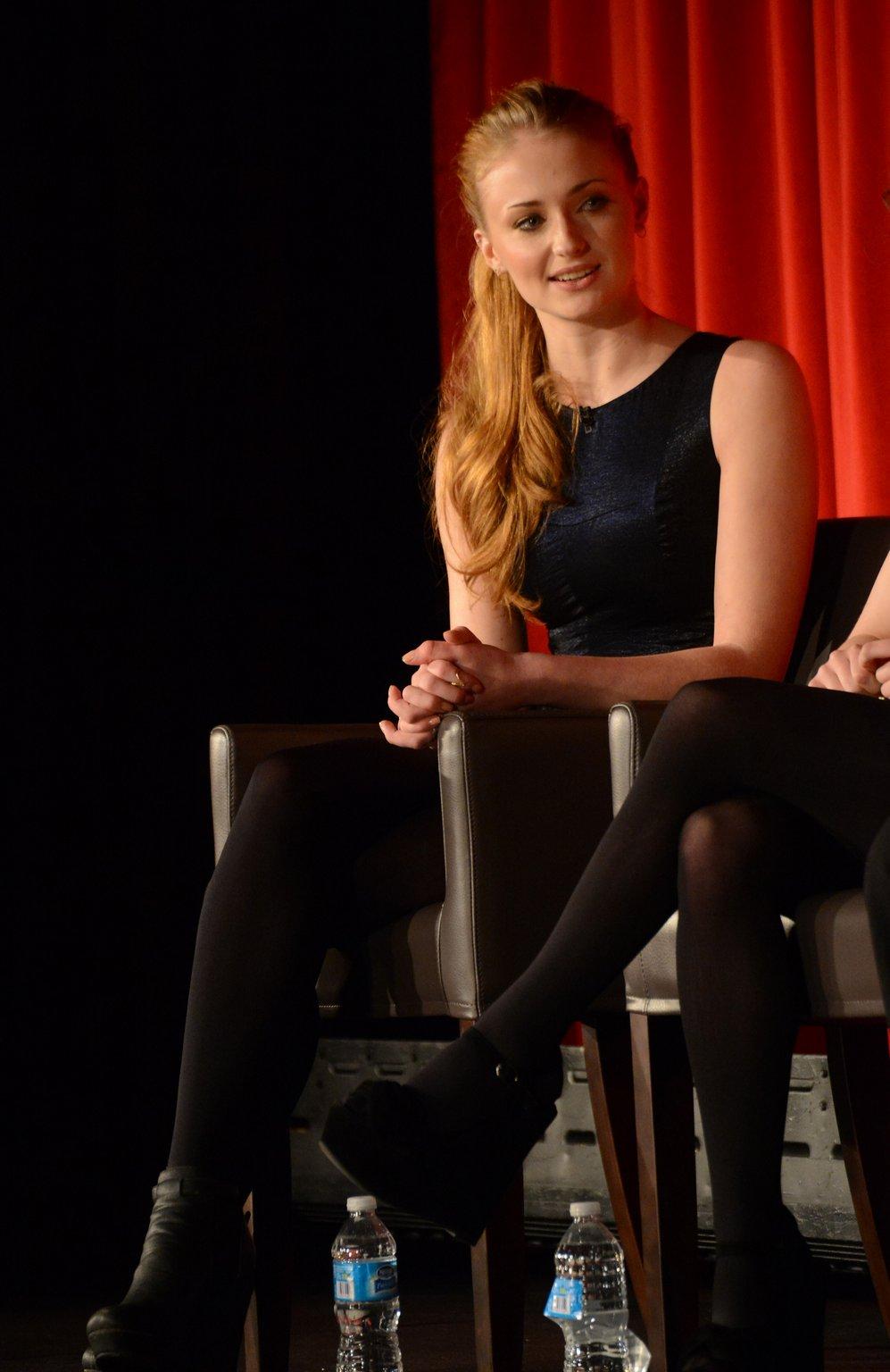 Pantyhose sophie turner Celebrity Legs