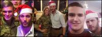 Том на рожденственском ужине с пехотинцами!