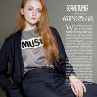 Sophie Turner in April's issue of Wonderland