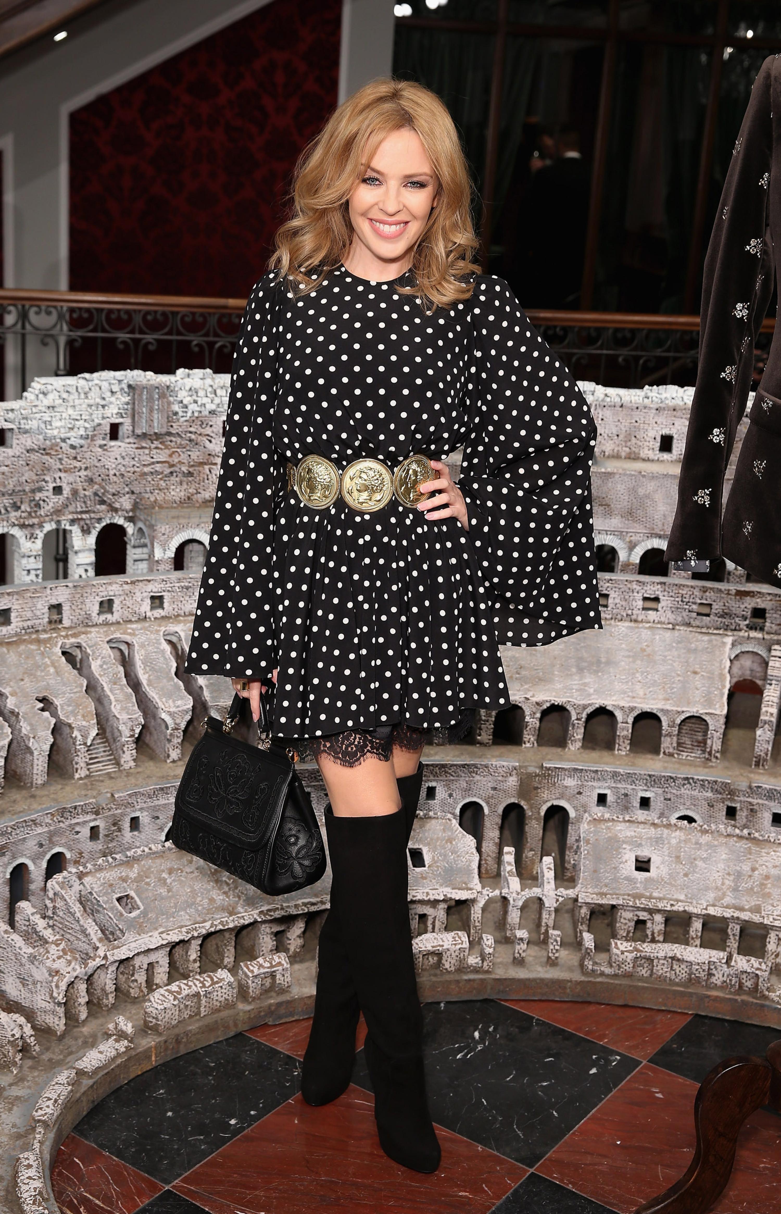 Кайли Миноуг. Dolce&Gabbana Fashion Show