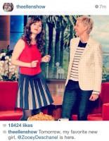 """Зоуи Дешанель на «Шоу Эллен Дедженерес» - """"Instagram за кадром"""""""