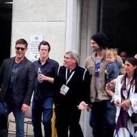 Женевьев, Джаред и Томас на последнем дне ComicCon 2013.