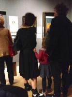 Хелена Бонэм Картер. Хелена, Тим и дети в музее 22 октября