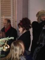 Хелена Бонэм Картер. Хелена и Билли на зажжении рождественских огней в Steele's Village в Хэмпстеде