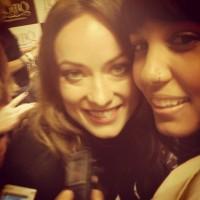 Фото счастливчиков которым удалось встретиться с Оливией во время её визита в Сан-Паулу