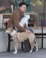 Ченнинг со своими собаками.