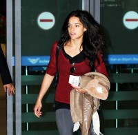 Michelle Rodriguez at Airport in Korea