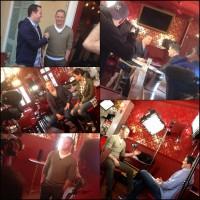 """Ченнинг дает интервью в своеи ресторане """"Святые и грешники"""""""