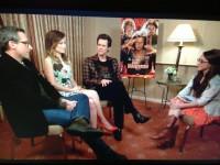 Фото со съёмок интервью актёров фильма «Невероятный Бёрт Уандерстоун»