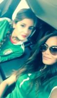 Химена с родными болеет за команду Мексики на чемпионате футбола.