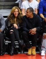 Бейонсе Ноулз. #Jayonce на баскетбольном матче в Лос-Анджелесе