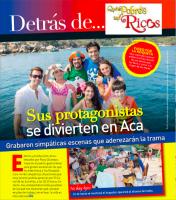Сканы свежего выпуска журнала «TVyNovelas» о сериале «Какие же они богатые, эти бедные».