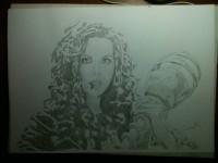 Кейт Бекинсейл. Нарисованая фанами Кейт