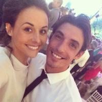 Сурия и Альберто на свадьбе.