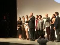 Cурия Вега. Фото с мировой премьеры фильма «Темнее ночи» на международном кинофестивале в Гуанахуато.
