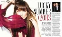 Оливия на страницах февральского выпуска журнала Grazia.