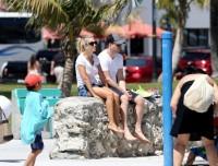 Луисана и Майкл на пляже Майами