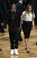 Бейонсе Ноулз. Jayonce на баскетбольной игре «Brooklyn Nets vs Cleveland Cavaliers» в «Barclay's Center».