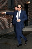 Arrives at the 'Late Show with David Letterman' in NYC