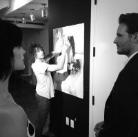 @peterfacinelli & @jaimiealexander with @oddDC