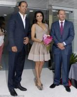 Ева Лонгория  присутствовала на торжественном открытии  центра Aesthetic Centre в Marbella.