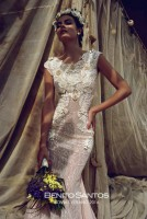Химена в рекламе свадебной коллекции Benito Santos Лето 2014.