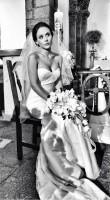 Прекрасная невеста на съемках.