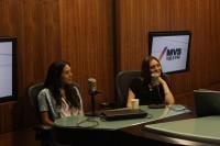 Cурия Вега. Сурия, Хосе и Она на радиостанции MVS 102.5 FM.