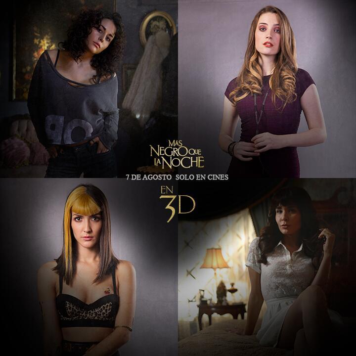 Cурия Вега. Промо-фото к фильму «Темнее ночи», на котором изображены главные героини.