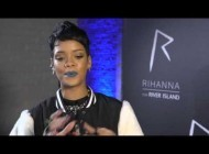 Rihanna gets excited by her River Island collection in London