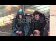 Jennifer Lawrence and Liam Hemsworth shooting Hunger Games 3 in Paris