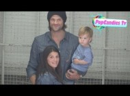 Jared Padalecki with Genevieve Padalecki & Thomas Padalecki arrive for Supernatural Press Day