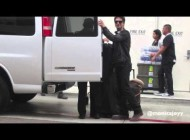Ian Somerhalder and Nina Dobrev arriving at Comic Con 2013