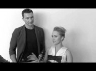 "Хайден Панеттьери. Хайден Панеттьери и Владимир Кличко на показе мод ""Giorgio Armani"" в Милане. Giorgio Armani Spring/Summer 2014 Men's Fashion Show - Interviews"